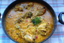 Aroz con pollo y verduras
