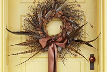 Wreaths / Wreaths for every occasion --or just because. Wreaths are an assortment of flowers, leaves, fruit, pinecones, and other materials constructed to make a ring. Some are ceremonial, they have history and symbolism associated with them.They date back to Ancient Greece and Rome to 450BC. / by CJ Foxcroft