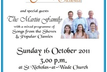 St Nicholas music / Posters I designed for the various concerts at St Nicholas-at-Wade church