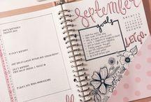 Bullet Journal / Bullet journal para se inspirar e começar o seu!