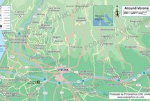 Verona, Italy - some maps! / Find out more about our maps on our website (http://www.pcgraphics.uk.com) or on our other Pinterest Boards. Or try our blog http://www.pcgraphics.uk.com/blog/