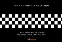 Chessboard to Business world / Inspirational quotes on business which are inspired from chessboard...