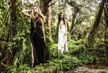 Enchanted Escapades / A world where mystery & magic collide, a place where fairytales are told about witches who enchant handsome princes and beautiful maidens. Escape to Enchantment with some of our favourite IXIAH piece photographed in a magical rainforest.