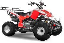 Quad Raptor 150 / Egyedi és különleges megjelenésű quad felnőtteknek. 150 köbcentis, 10 LE-s motor. Automata váltó, hátramenetbe is kapcsolható. Masszív karosszéria, megerősített vázszerkezet. Nagyméretű csomagtartó, 8 colos kerekek. Akár 180 kg teherbírás, beállítható lengéscsillapítók.