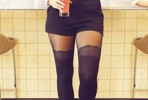 Shorts and tights outfit ideas