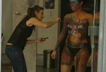 Body Painting / Trabajos de Body Painting. Exhibiciones, presenaciones, desfiles de modelos. Cuerpos pintados