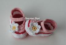 Cose che amo  scarpine neonato / by Alida scarton