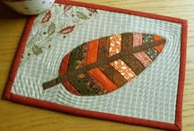 quilted coasters/mug rugs