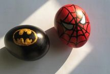 Superhero egg painting
