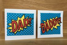 Handmade Fathers Day Cards / Unique handmade greeting cards, made individually from my home and sold in local shops.