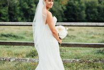 Rachel + Scott, CLASSIC BACKYARD NEW ENGLAND WEDDING / Classic Back yard New England Wedding: blush color scheme, blush flowers, blush bouquets, blush centerpieces, classic ceremony back drop, fabric back drop, blush bridesmaid dresses