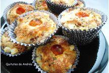 Muffins de carne seca e queijo