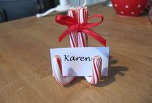 place setting / name tags / by Lisa Bennett