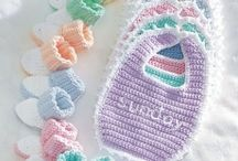 Babies knit and crochet