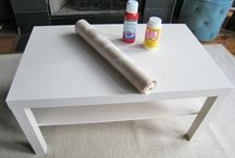Wall paper coffee table