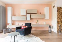 Maison contemporaine et colorée / Aménagement et décoration d'une maison proche St Germain en Laye. Couleurs, design italien et touches de vintage