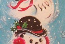 Снеговики (винтаж)