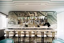 Restaurant/Hotel/Storefront / Images of some inspirational commercial spaces. Lighting, seating, floors, walls, ceiling, layout, tables, branding. LOVE unique designs! / by Clayton Gray Home