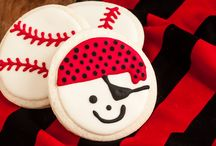 Gluten Free & Dairy Free Pirates Cookies / Go Bucs!  Cheer your favorite baseball team on to victory with gluten free and dairy free, sugar cookies decorated with royal icing.  Available every home game weekend. Photos by Lisa Eggleston Photography