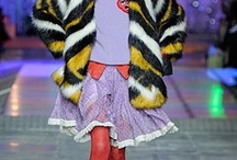 LFW ¬ Meadham Kirchhoff / As is their way, the boys at Meadham Kirchhoff took unique fashion to a whole new level yesterday. It was an explosion of colour, layered pieces, wacky makeup and more.  / by Zuneta Beauty