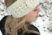 Crocheted ear warmers and beanies