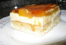 tarta de melocotón.