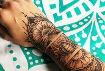 Flower/mandala arm