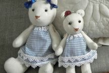 Fabric dolls/animals