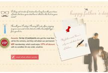 Daddy's BrainyWords #Father's Day# / Event Link Address: http://www.malloom.com/fathersday Duration: June 7, 2015 to June 21. Recall your Daddy's BrainyWords often ringing in your ears and write it down with a beautiful typeface you love.Rewards: the top 10 participants who get the most likes will be the winners, and they will obtain our permanent VIP membership, which could enjoy 10% off discount with no condition for any order, anytime.NOTICE: We reserve the rights to explain this event and delete any vicious and unfriendly pins.