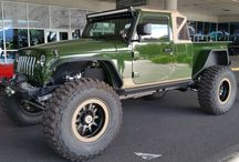 SEMA Show 2016 / Photo of Jeeps and other vehicles on display at the show