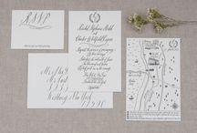 Weddings // Brigitte and Pablo / Wedding stationery inspiration