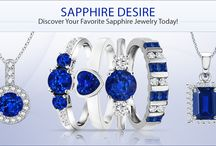 Sapphire Blue / The fascinating colors of the Sapphire gemstone have allured the hearts of the people since ages. Explore our Sapphire Jewelry collection and find your dream jewelry! / by Angara.com Jewelry