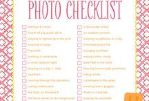 Summertime / Summertime activities, summer photography tips, summer crafts, summer fun