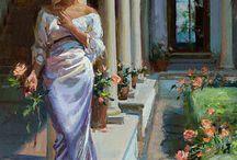 Nők virággal
