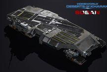 Inspiring Spaceship / Inspiration spaceship from multiple universe.