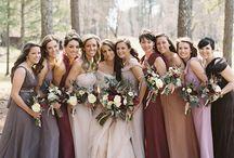 autumn bridesmaids