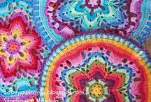 Mandala's & Squares Inspiration_crochet / Lovely and beautiful mandala's and squares...