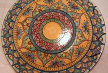 Piatto Murale 34 cm.Decoro Mandala