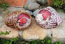 PIEDRAS PINTADAS / PAINTING ROCKS / Piedras pintadas a mano