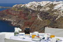 IKIES Hotel Santorini / These are photos of the hotel and the views from it towards the caldera, the village of Oia and the sunset.