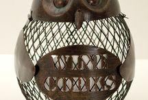 Owl cork cage