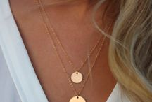 Double Layered Gold Strand Necklace With Disc Design