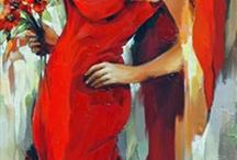 vrouwen schilderij