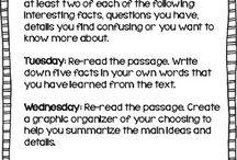 Literacy/reading strategies
