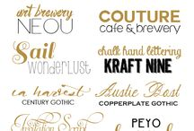 Fun with Fonts / by Natasha (The Cake Merchant)