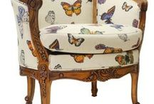 CHAIRS, birds and butterflies