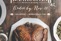 Thanksgiving 2015 / November is here and Thanksgiving is upon us. Make sure to plan ahead and order your Holiday Turkey from 4 Rivers!  These whole birds are brined for 3 days and hand-made with the same mouthwatering flavors as our turkey served in the Smokehouse. We also offer fixins to fill your Thanksgiving table.  For more info or to place your order today, call 844-4RIVERS or head to www.4rsmokehouse.com/holiday for our online order form.