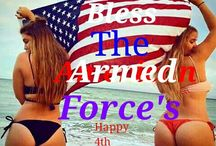 Salute Our Forces of Red White and Blue