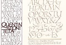 Calligraphic Work / Pen and brush on paper. Hand-made letterforms as art.