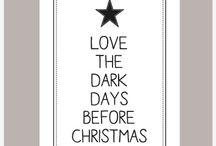 Kerst Posters / Kerst posters om in te lijsten, op te plakken met maskingtape. Ook leuk om te versturen als kerstkaart.